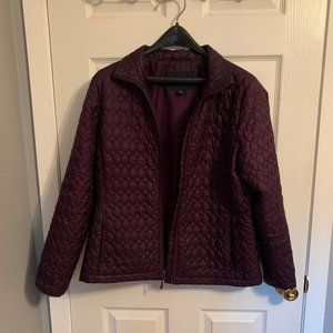 Land's End Lightweight Quilted Purple Jacket